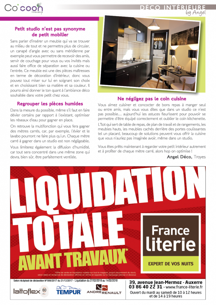 Magazine Co'coon – Article du mois d'avril