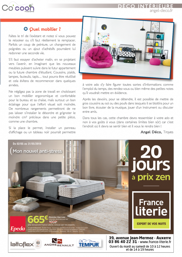 Magazine Co'coon – Article du mois de mai