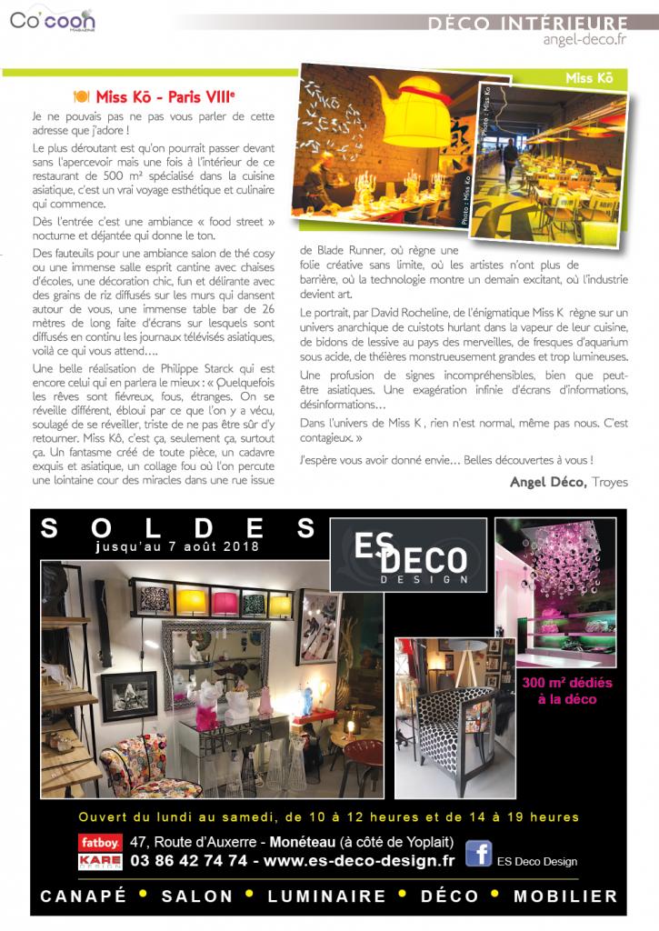 Magazine Co'coon – Article du mois de juillet