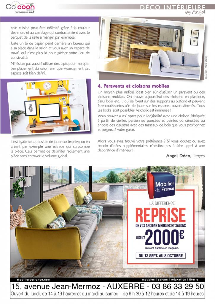 Magazine Co'coon – Article du mois de septembre