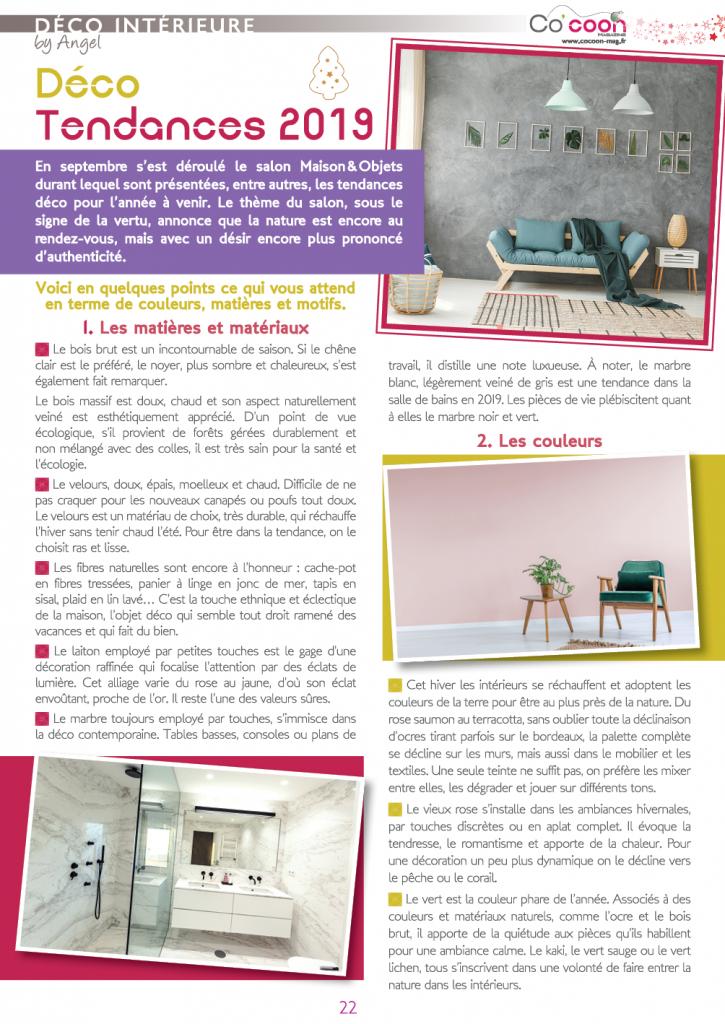 Magazine Co'coon – Article du mois de décembre