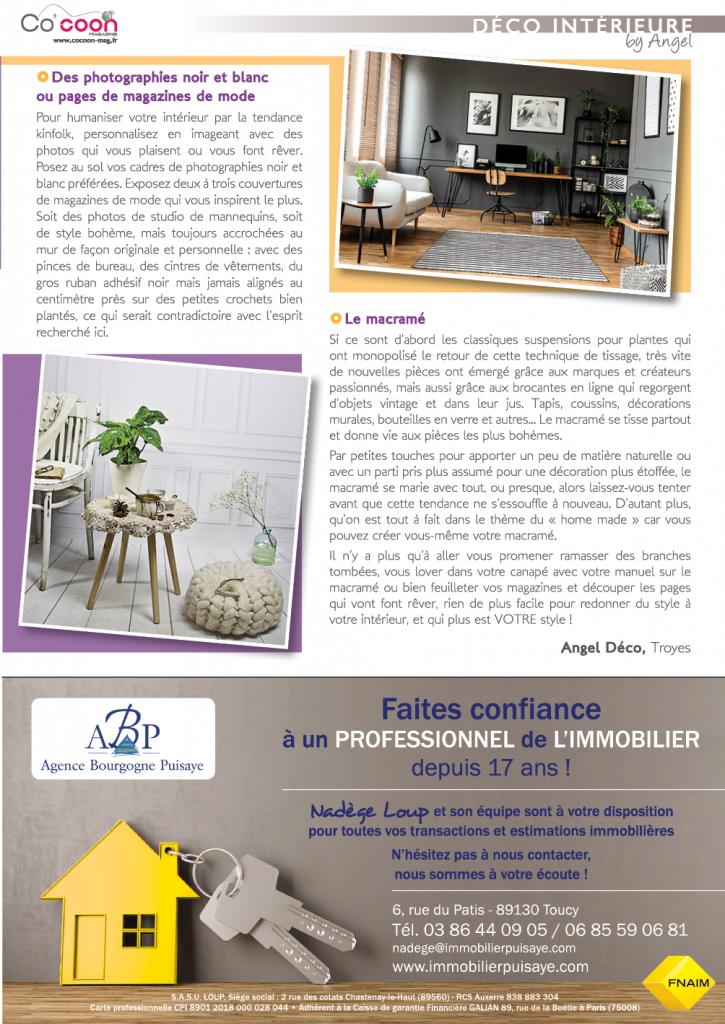 Magazine Co'coon – Article du mois de mai